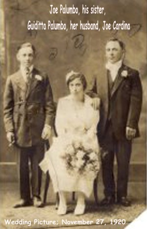 Cardina (Joseph) & Palumno (Guiditta) Wedding Photo 1920