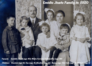 1920 Jiusto Family - named copy
