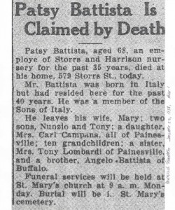 battista (pasquale) 1938 obituary