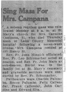 campana (lucia battista) 1945 obituary - rites