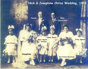 chriss (nick) & dianni (josephine) 1916 marriage photo