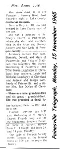 juist (annie lombardy) 1965 obituary