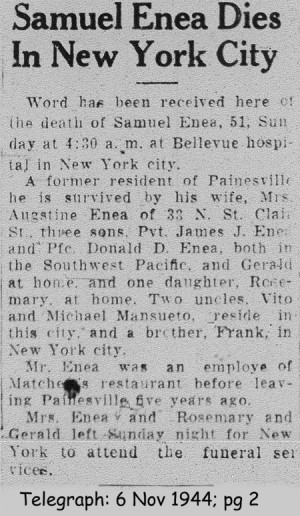 enea (simone) 1944 obituary