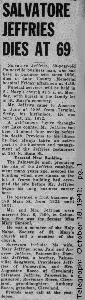 giuffre (salvatore) 1941 obituary
