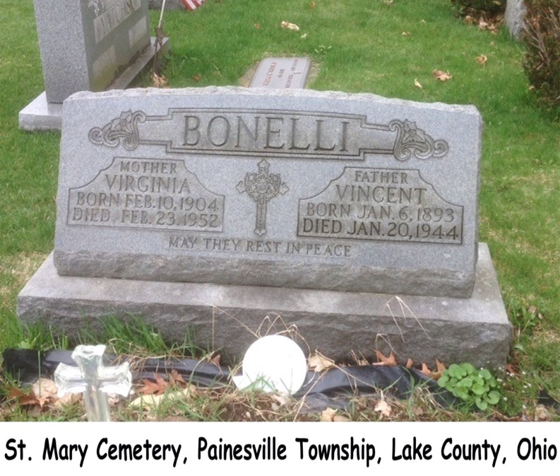 Bonelli (Vincenzo & Virginia Millonzi) Tombstone