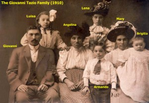 Tazio, Giovanni & Family (1910) - noted copy