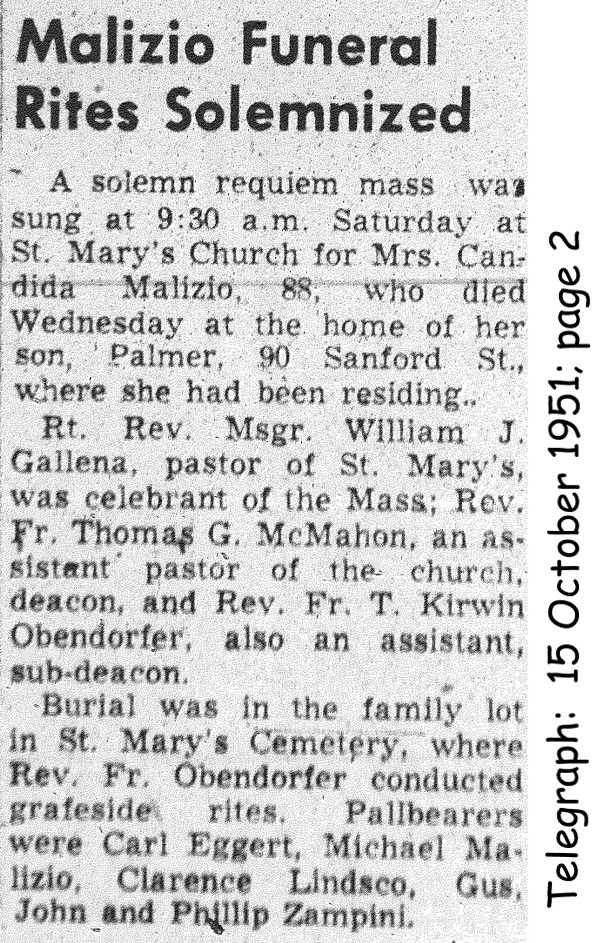 malizia (candida collaiti) 1951 obituary-rites