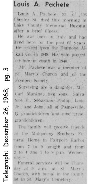 pacitto (angelo) 1961 obituary