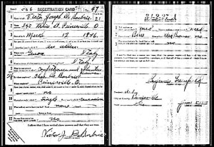 debarbrie (victor) 1917 wwi draft card
