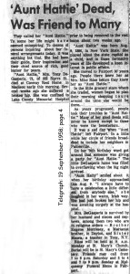 degasperis (harriet dorley rose) 1958 obituary