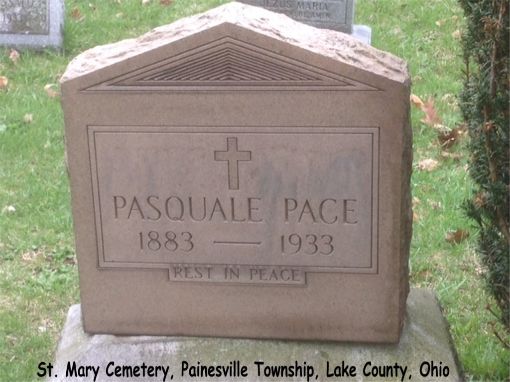 Pace (Pasquale) 1933 Tombstone