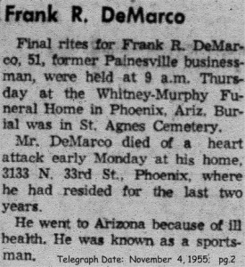 demarco (francesco) 1955 obituary-rites
