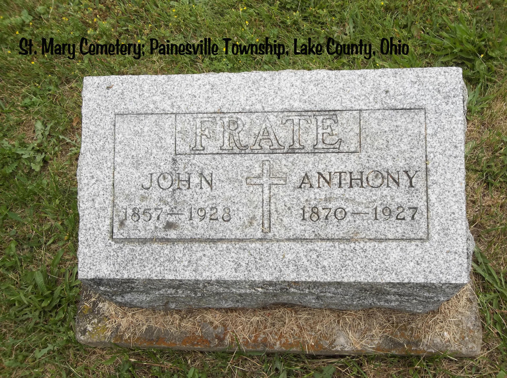 Frate (John & Anthony) Tombstone